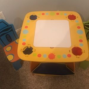 crayola Other - Kids Crayola table and two chairs new never used